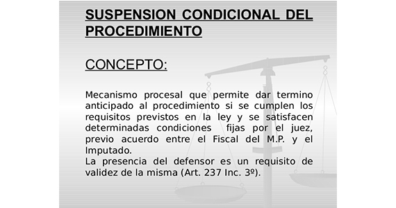 Formato de suspension condicional