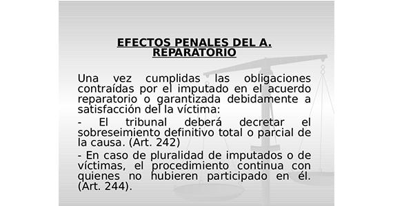 Efectos de la suspension condicional del procedimiento